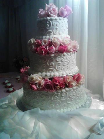 Tiered Pink Roses