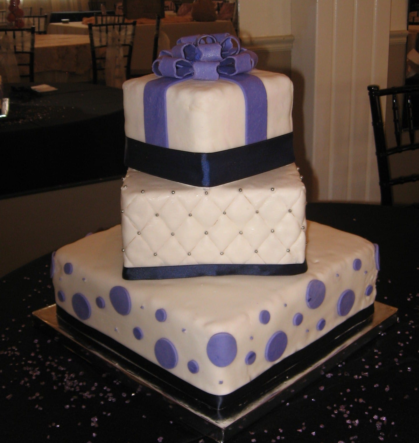 Fun and Flirty Polka Dot Cake